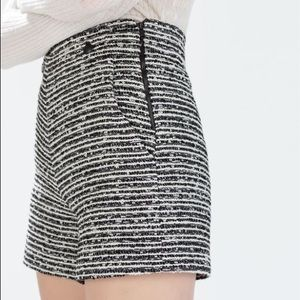 Zara High Waisted Twill Shorts